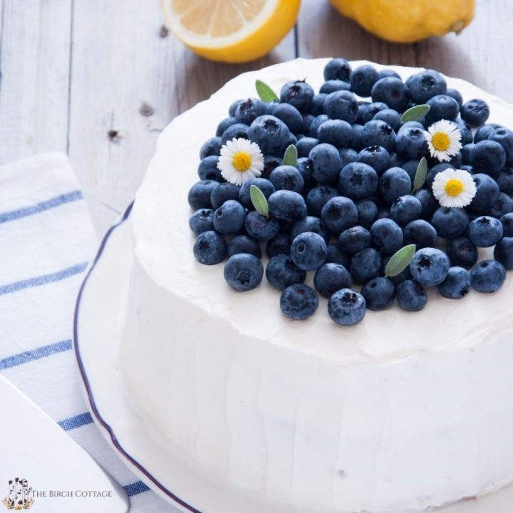 This layered Lemon Blueberry Cake recipe is full of fresh blueberry goodness with the perfect lemon flavor for a delightful balanced taste.
