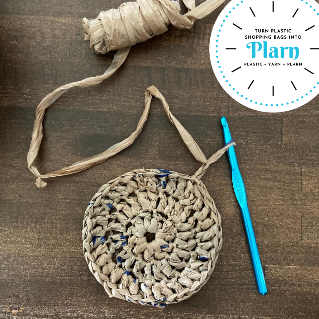 Wondering what to do with all those extra plastic shopping bags? Well, learn how to make plarn (plastic yarn) and crochet!