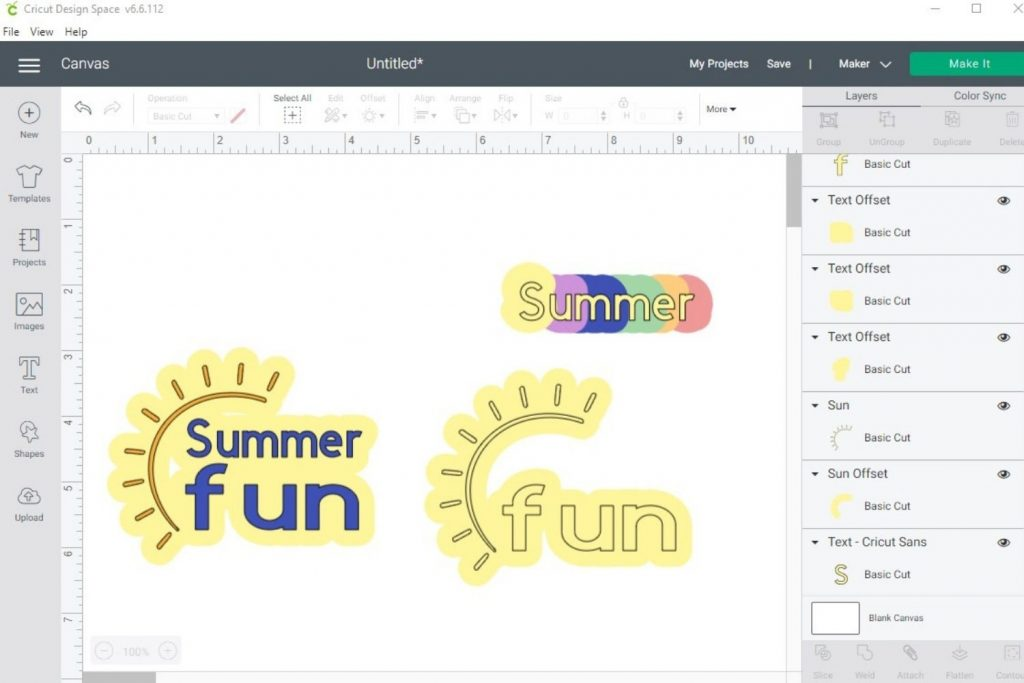 Learn how to use the new Offset feature in Cricut Design Space to create shadow effect on text and images for print then cut stickers & more!