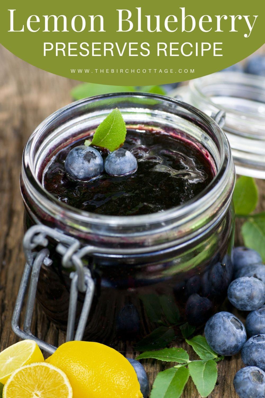 jar of blueberry preserves