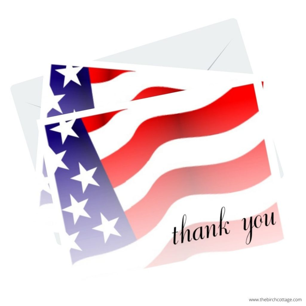 Patriotic Thank You Note Cards are perfect for expressing our gratitude to those who have or are currently serving on Veterans Day or anytime.