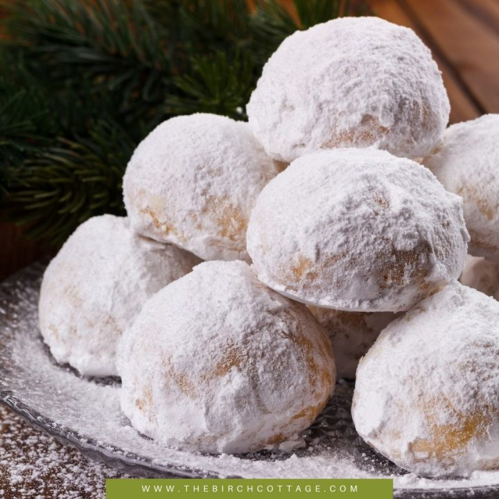 Russian Tea Cakes are sort of like round pecan sandies that are rolled in powdered sugar. They are so buttery good and filled with chopped pecans, walnuts or almonds and rolled in powdered sugar.
