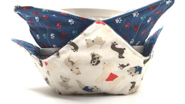 microwave fabric bowl jelly beans and easter eggs Bowl cozy
