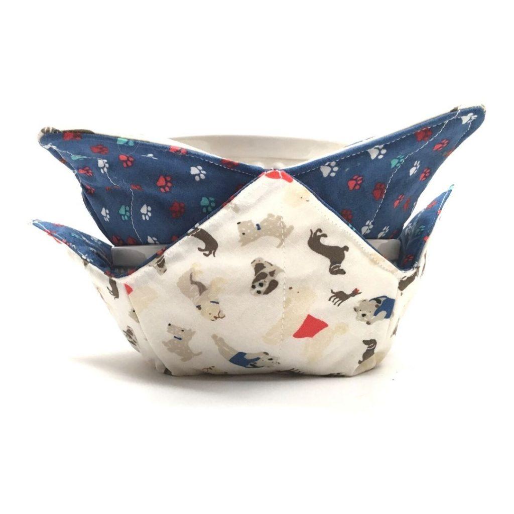 I Love My Dog Microwave Bowl Cozy
