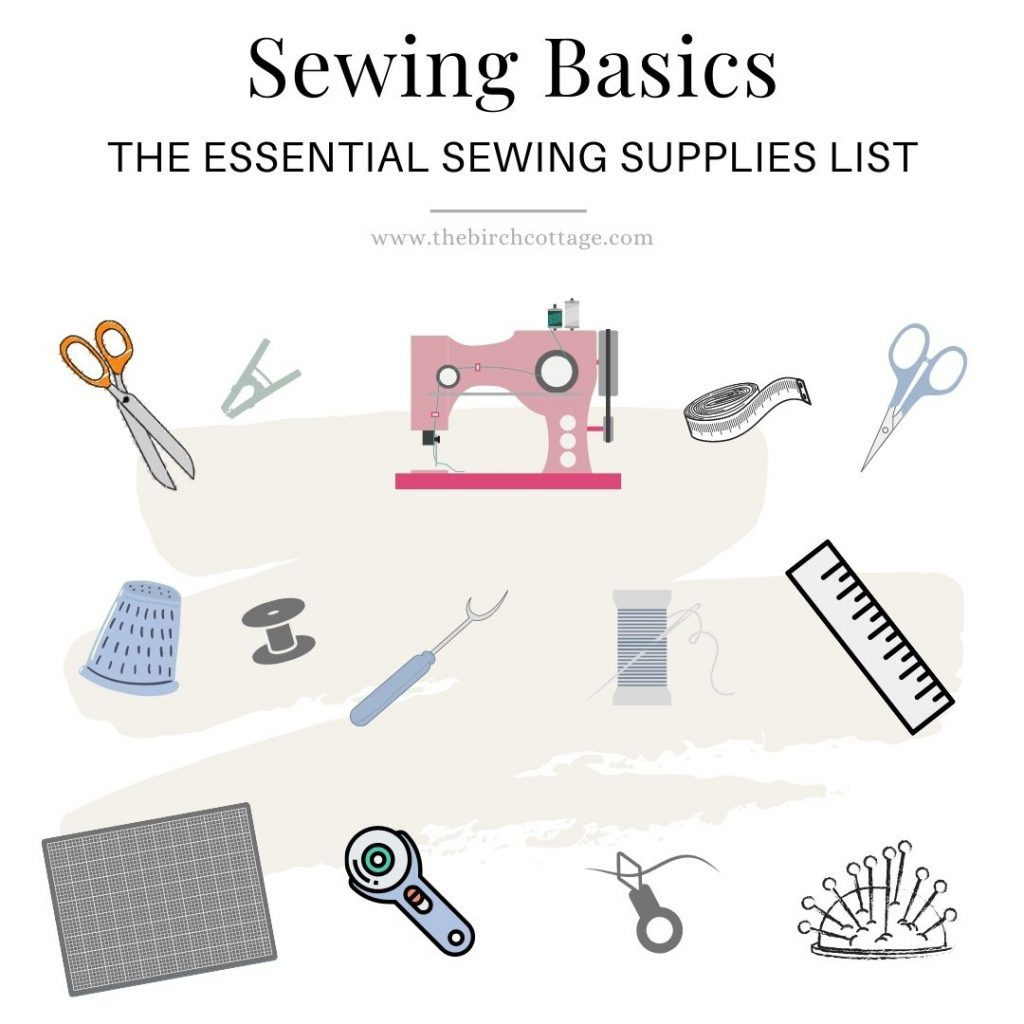 In the essential sewing supplies list we will cover all the basic sewing supplies needed to get you off to a good start as you learn to sew.