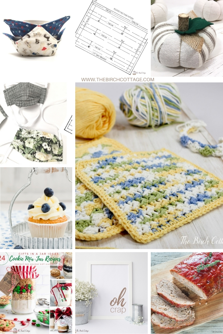 Explore the top ten most popular sewing, crochet, printables and recipe ideas for a handmade home from The Birch Cottage in 2020.