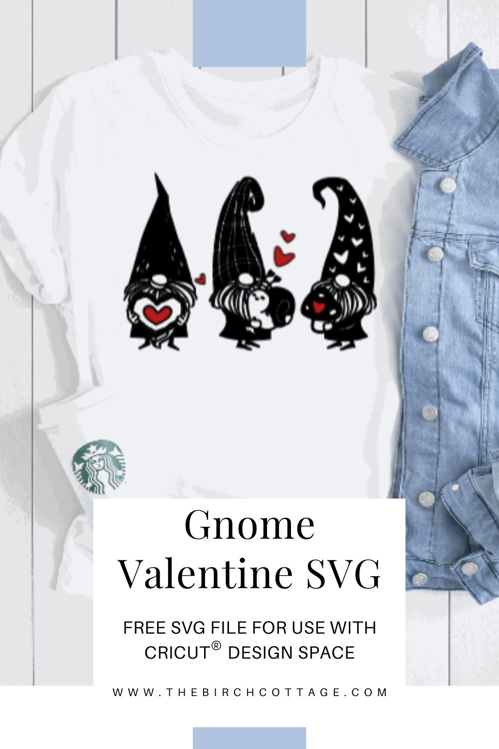 Use Cricut Design Space to add some Valentine's Day charm to t-shirts, bags, mugs and more with this shared Valentine Gnome project file.