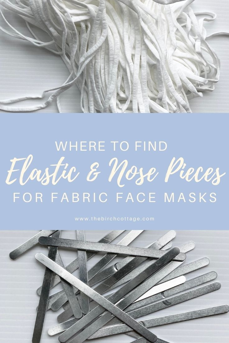 I've found two sources for the metal nose piece and elastic for fabric face masks: Quality Tooling Systems and EFIXTK on Amazon.