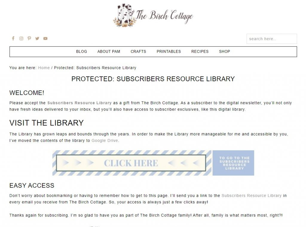 Learn how to subscribe, access and download files in the Subscribers Resource Library - which is full of free printables for subscribers.